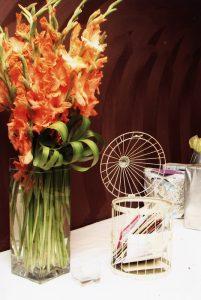 mieczyki - pomarańczowe kwiaty