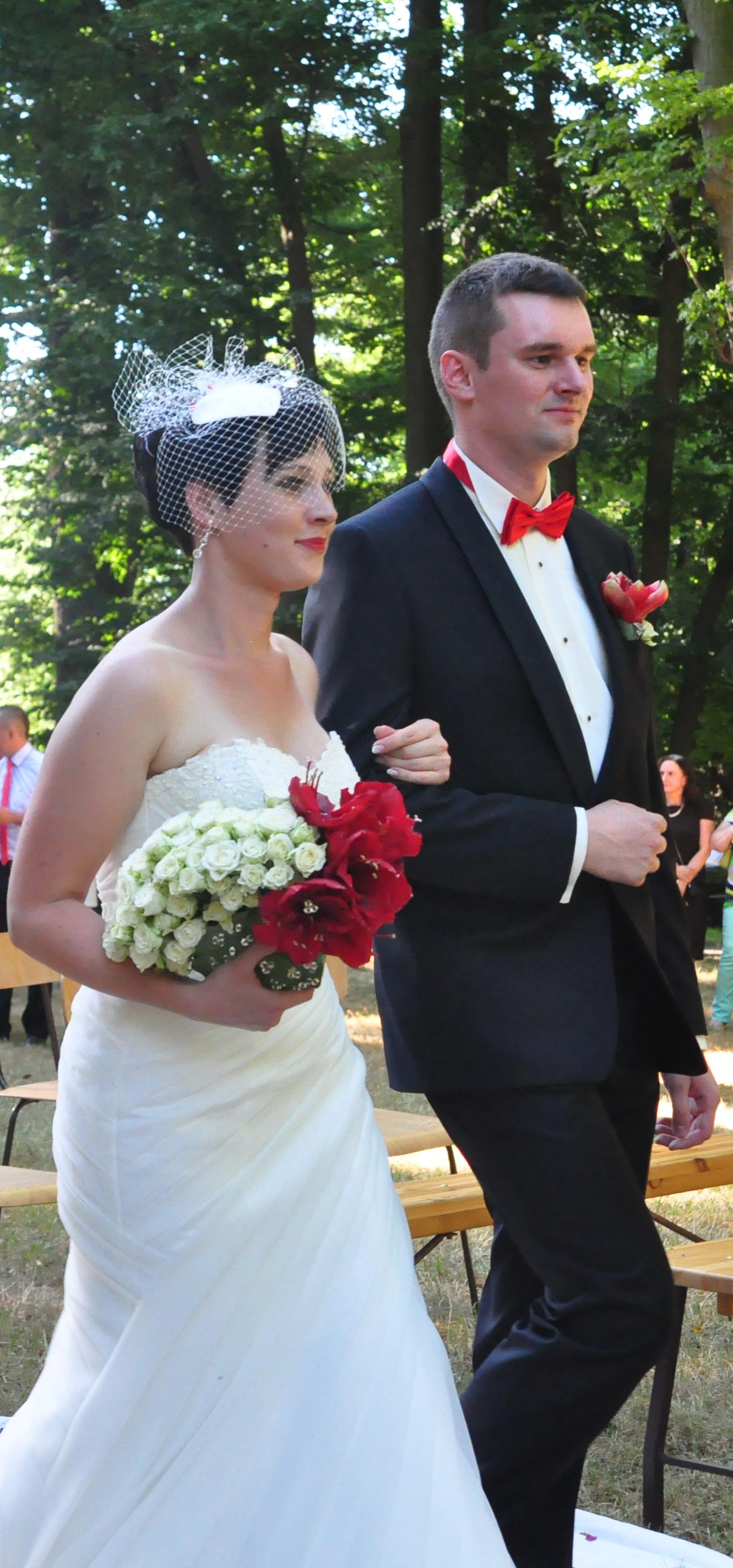 Bukiety ślubne w postaci wachlarza by Monika florystyczna pasja