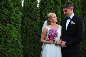 Różowe bukiety ślubne by Monika florystyczna pasja