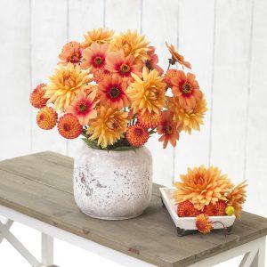 Dalie - pomarańczowe kwiaty