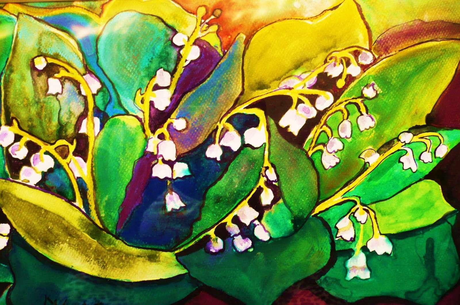 konwalie - kwiaty na obrazach - Małgorzata Kuś