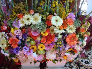 sierpniowe bukiety - florystyczna pasja
