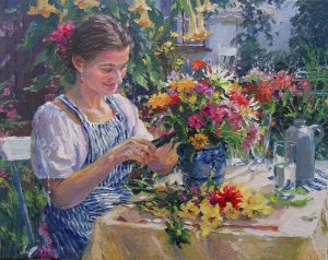 Barbara Jaśkiewicz - kwiaty na obrazach